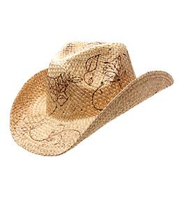 Peter Grimm Burnt Roses Cowboy Hat