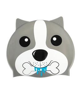 Sporti Cartoon Dog Silicone Swim Cap Jr.
