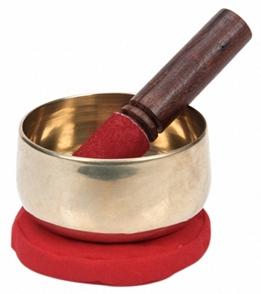 Sacred Space Golden Cast Tibetan Singing Bowl 4