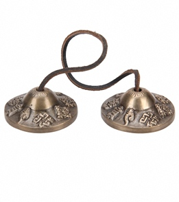 Sacred Space Small Auspicious Symbol Tibet Gong Tingsha Cymbals
