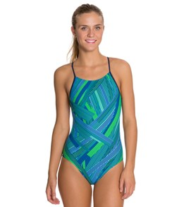 Sporti Linear Micro Back Swimsuit