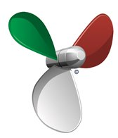 H2O-Toos Swim Tattoos Italy Speed Propeller Flag Tattoo