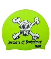 1Line Sports Beware Of Swimmer Silicone Cap