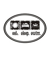 1Line Sports Eat Sleep Swim Magnet