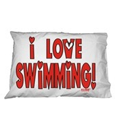 1Line Sports Love Swimming Pillow Case