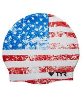 TYR Old Glory Silicone Swim Cap