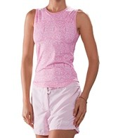 Girls4Sport Aqua Zen Rose Sleeveless Rashguard With Shelf Bra