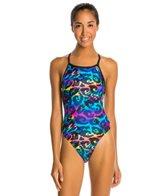 Illusions Camo Glow Thin Strap Swimsuit