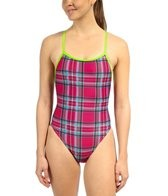 Illusions Plaid Love and Happiness Thin Strap Swimsuit