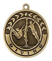 2 Diving Die Cast Medal