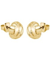 Sports Collection Jewelry Water Polo Ball Stud Earrings 14k Gold