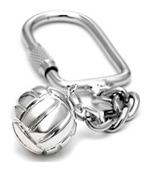 Sports Collection Jewelry Water Polo Ball with USA Rhodium Plated Key Chain