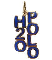 Sports Collection Jewelry Blue Enamel H2O Polo Charm 14k Gold Plated