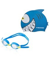 HEAD Swimming Meteor Cap and Goggle Blue Set