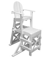 Tailwind Medium Recycled Plastic Lifeguard Chair w/Side Step