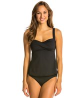 TYR Solid Twisted Bra Tankini Top