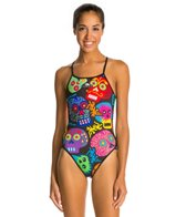 Turbo Halloween Skulls One Piece Swimsuit