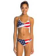 Turbo USA Flag Bikini Swimsuit Set