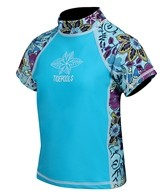 Tidepools Girls' Topsy Turvy S/S Rash Guard (2-14yrs)