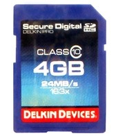 Delkin Devices 4GB Pro Class 10 SDHC Memory Card