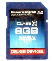 Delkin Devices 8GB Pro Class 10 SDHC Memory Card