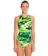Nike Women's Painted Camo Water Polo High Neck Tank