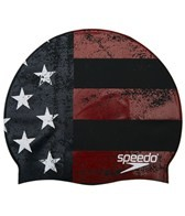 Speedo Distressed USA Flag Swim Cap
