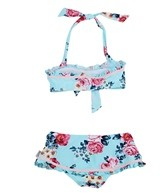 Seafolly Girls' Rococo Rose Halter Skirtini Set (4-7yrs)