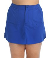 Maxine Plus Size Solid Woven Boardskirt