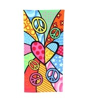 Kaufman Sales Peace Heart Towel 30 x 60