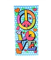 Kaufman Sales Peace Love Towel 30 x 60