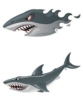 H2O-Toos Swim Tattoos Sharks