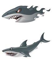 H2O-Toos Swim Tattoos Sharks