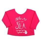Roxy Girls' Take Me To The Sea Crop Tee (7-16)