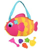 Stephen Joseph Kids' Fish Beach Tote (Includes Sand Toy Set)