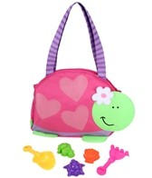 Stephen Joseph Kids' Turtle Beach Tote (Includes Sand Toy Set)