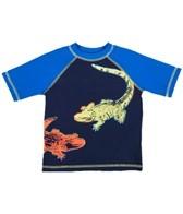 Flapdoodles Boys' See You Later Alligator S/S Rashguard (12-24mos)