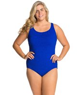 Penbrooke Krinkle Plus Size Cross Back Mio One Piece