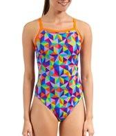 Waterpro Kaleidoscope Thin Strap One Piece Swimsuit