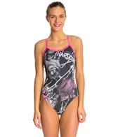 Hardcore Swim Women's Thorns X Back One Piece Swimsuit
