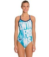 Hardcore Swim Women's Swim for MS X Back One Piece Swimsuit