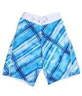 Speedo Boys' Watercolor Plaid E-Board (8-20)