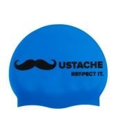 Sporti Mustache Silicone Swim Cap