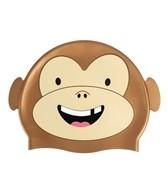 Sporti Cartoon Monkey Silicone Swim Cap Jr.