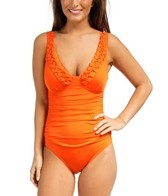 Jantzen Solid V Neck One Piece