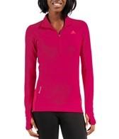 Adidas Women's Terrex Ice Sky Long Sleeve Running 1/2 Zip