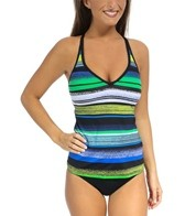 Jag Bryon Bay Stripe Crisscross Back Tankini Top
