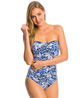 Jag South Pacific Shirred Bandeau One Piece