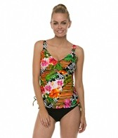 Maxine Balinese Dream Side Shirred Underwire Tankini Top