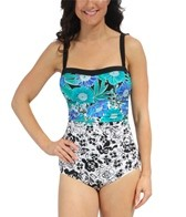 Maxine Maya Side Shirred Bandeau One Piece